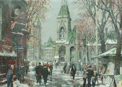 Parliament'a East Block, Ottawa | 2016 Christmas Card that benefited Frontier College and Literacy.