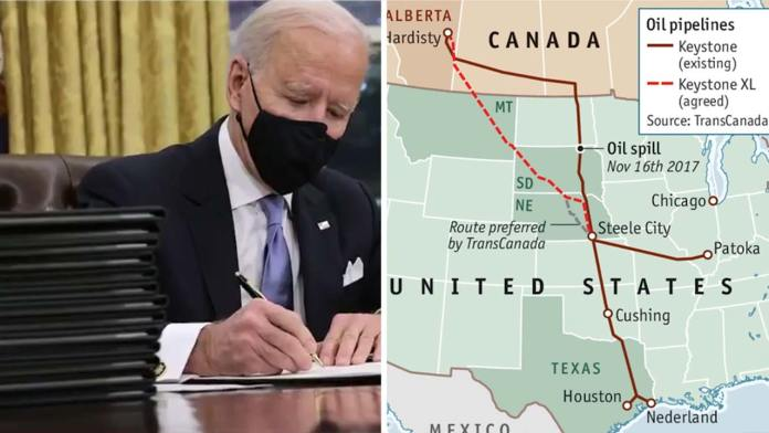 Joe Biden Revokes Keystone XL Permit For Purely Political Reasons