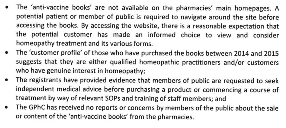 GPhC Ruling Homeopathy