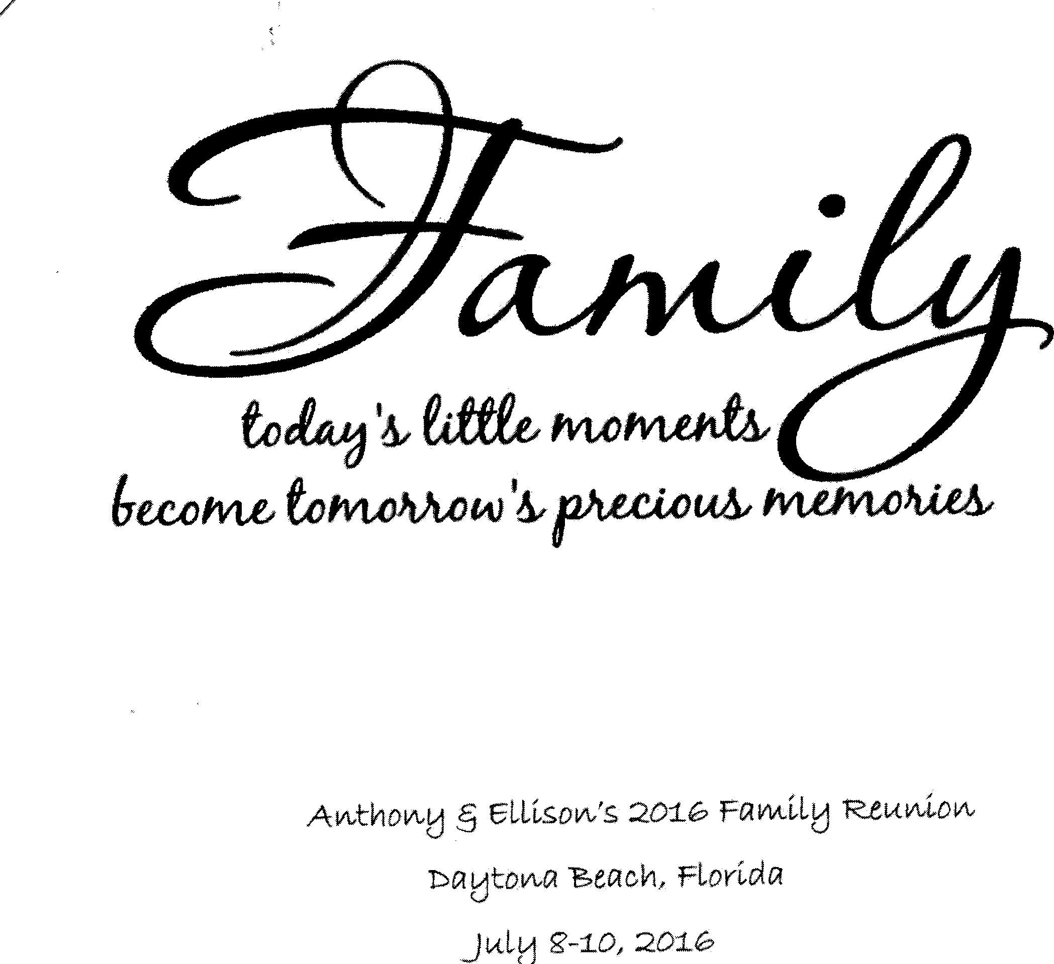 Anthony Ellison Family Reunion
