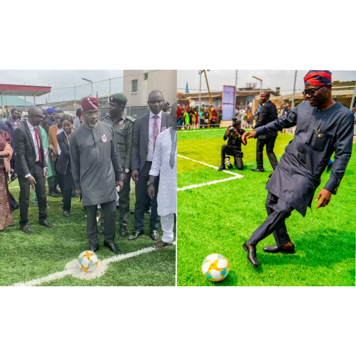 Sanwo-Olu-And-Femi-Gbajabiamila-Show-Some-Football-Skills-At-The-Commissioning-Of-Mini-Stadium