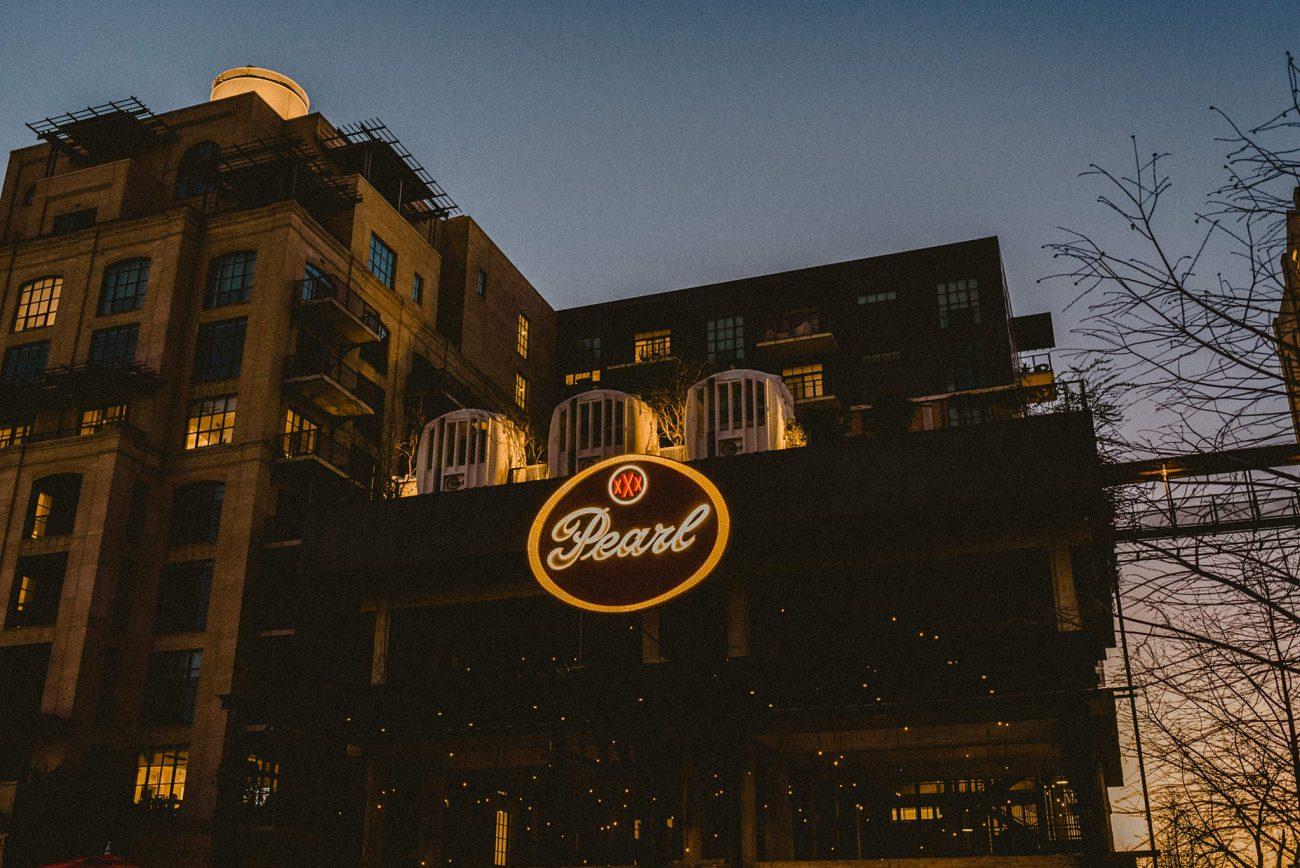 The Historic San Antonio Pearl at Night