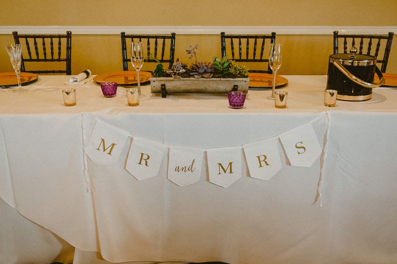 mr and mrs sign wedding decoration sign
