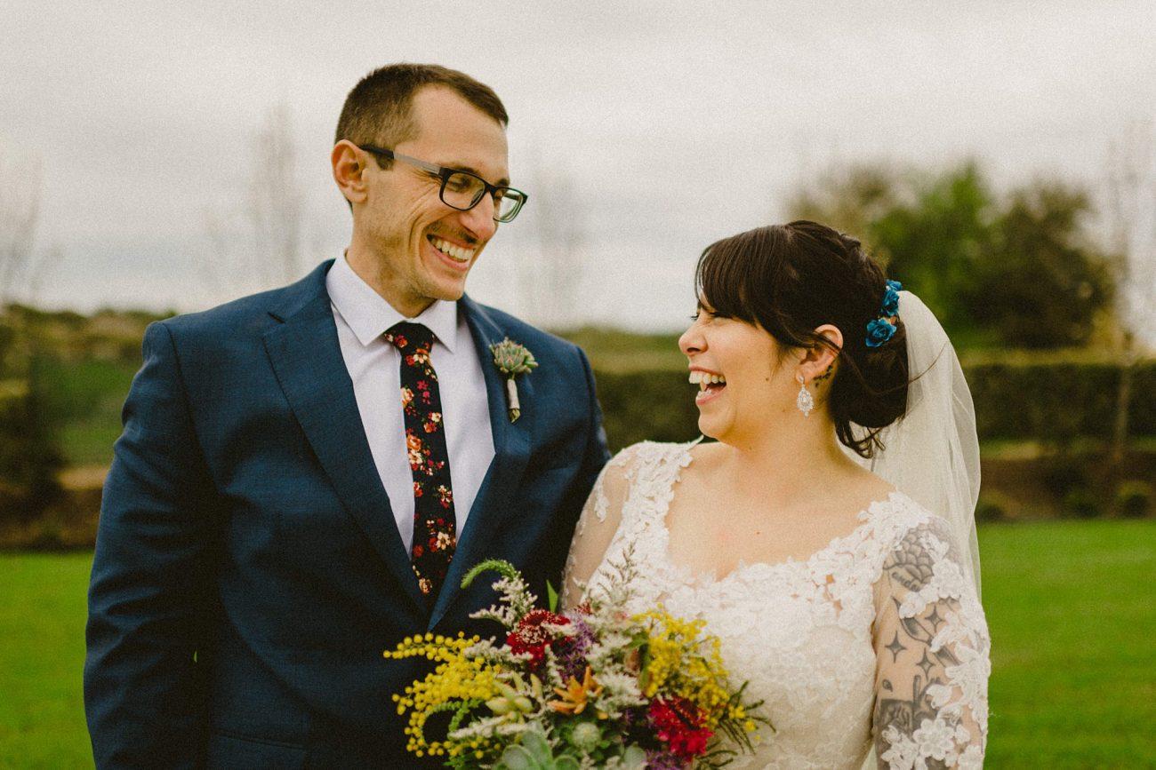 couple laughing by san antonio wedding photographer