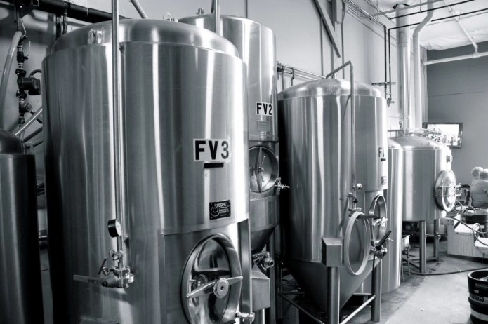 Fermenting vessels in a brewery
