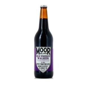 Moor Beer, Old Freddy Walker. A rich and darkly fruited hug in a bottle. Or can, these days.