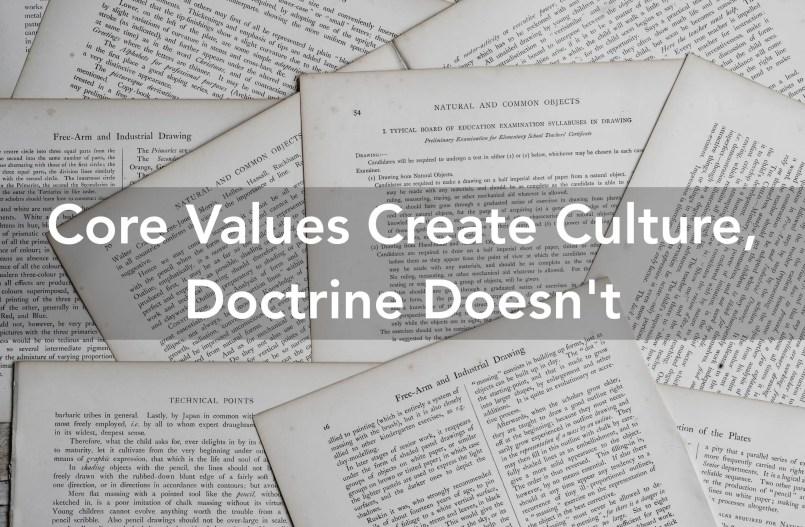 church core values