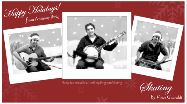 Holiday Banjo Greeting Card from the Future