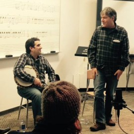 Anthony Ihrig goes from teacher to student when Bela Fleck walks into banjo workshop