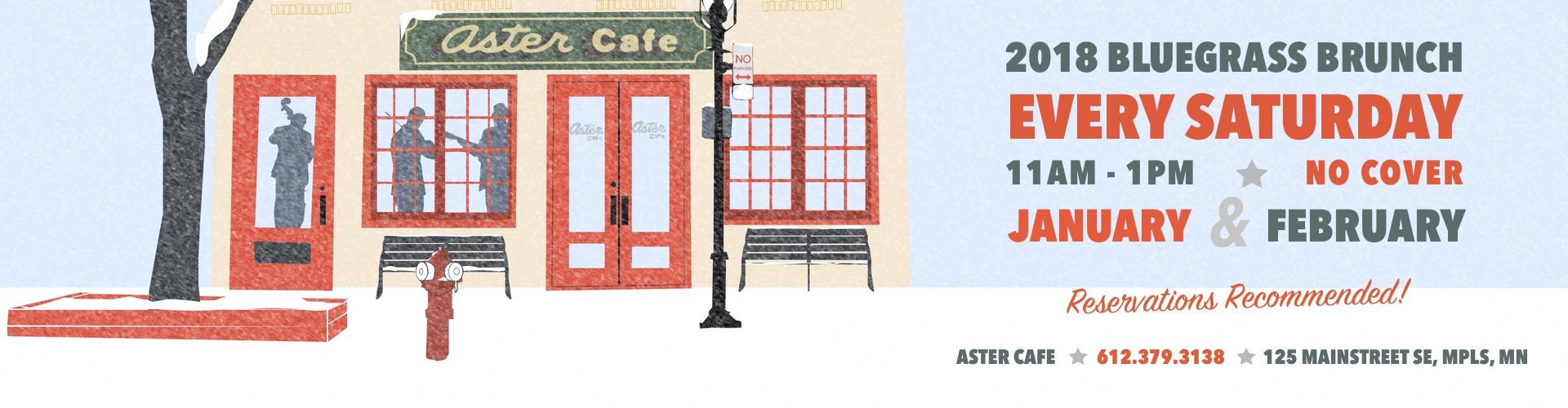 The High 48s 2018 Bluegrass Brunch at the Aster Cafe