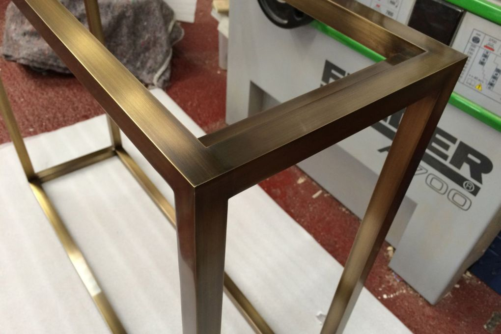 Detail of Bronze Patinated Brass Console Table Frame-gallery