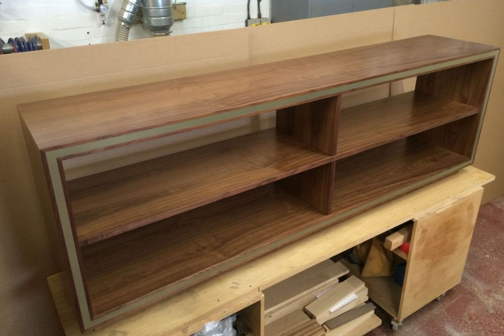 Low AV Shelving in Walnut and Brass-gallery