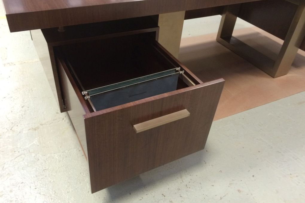 Mid Century Modern Styled Freestanding Desk Filing Drawers-gallery