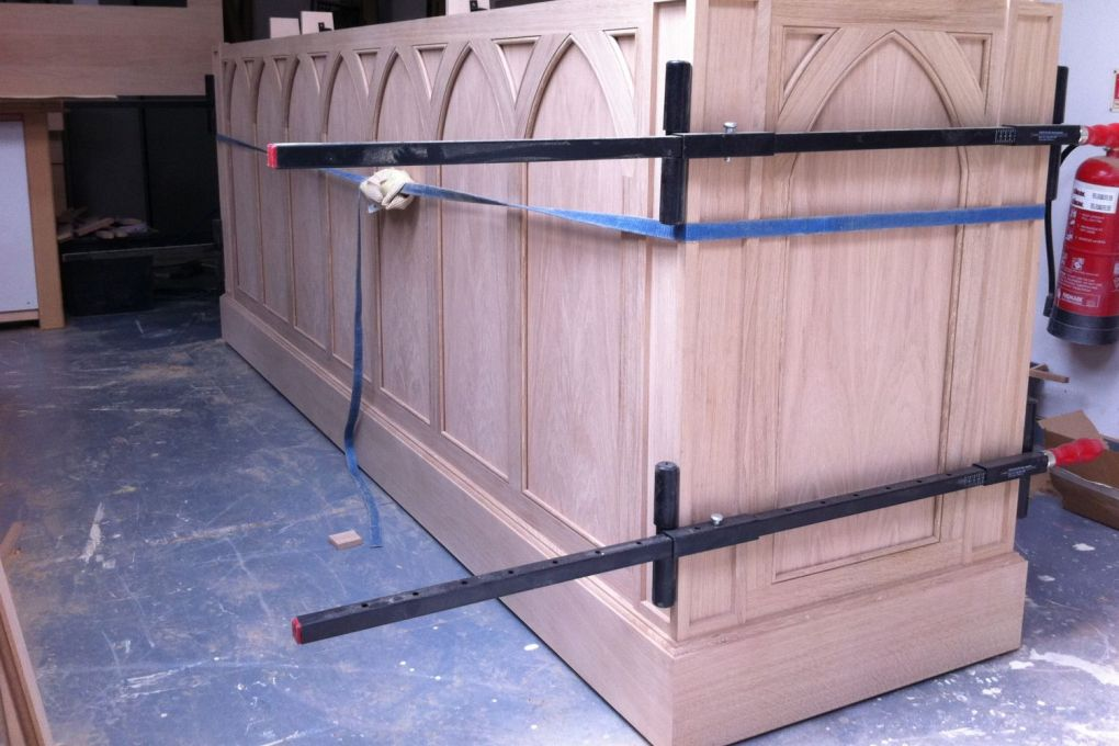 Reception Desk in Oak for The Bromptons Rose Square London-gallery