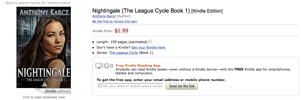 Nightingale on Amazon