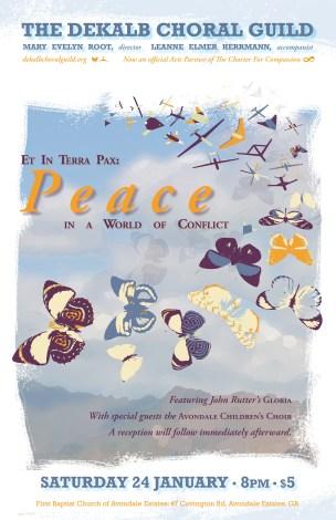 DeKalb Choral Guild - Et in Terra Pax Concert Poster