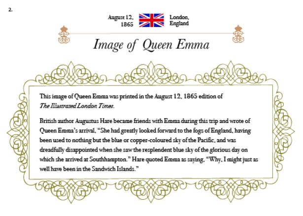 Queen Emma Summer Palace - Museum Placard Example
