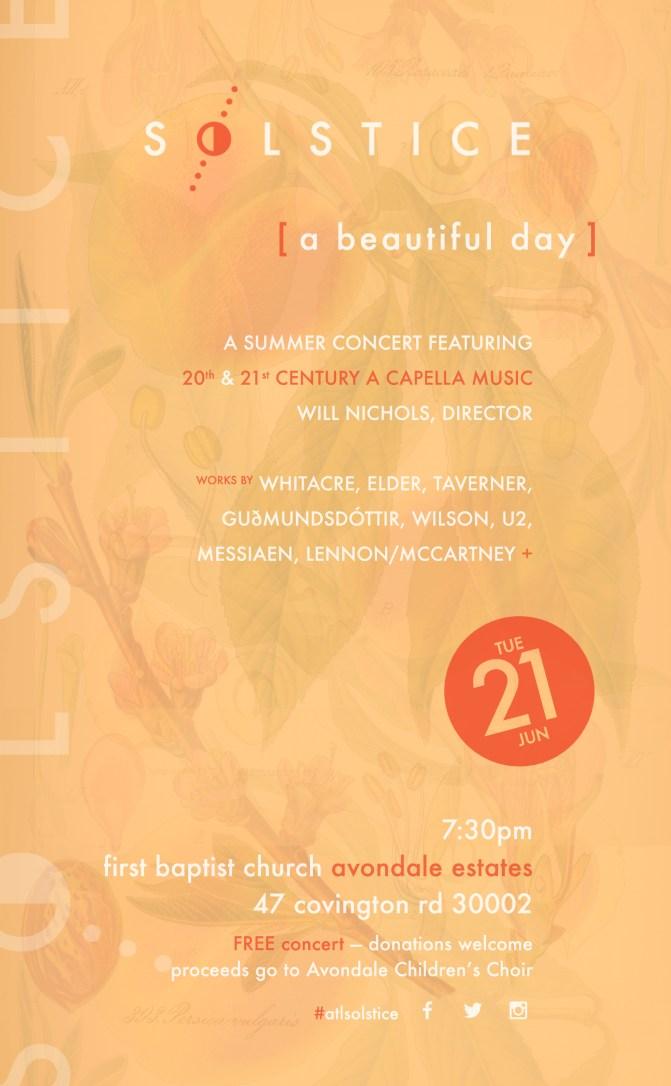 Solstice - 2016 Concert Poster
