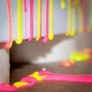Fluorescent Pink & Yellow #3