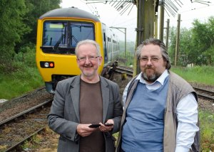 Next stop Gamesley suggest Councillors Dave Wilcox (left) and Anthony McKeown