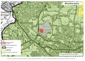 Mouselow Quarry - Derbyshire Minerals Local Plan Map
