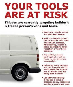 Picture of Van theft risk poster