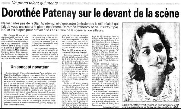Dorothée Patenay sur le devant de la scène