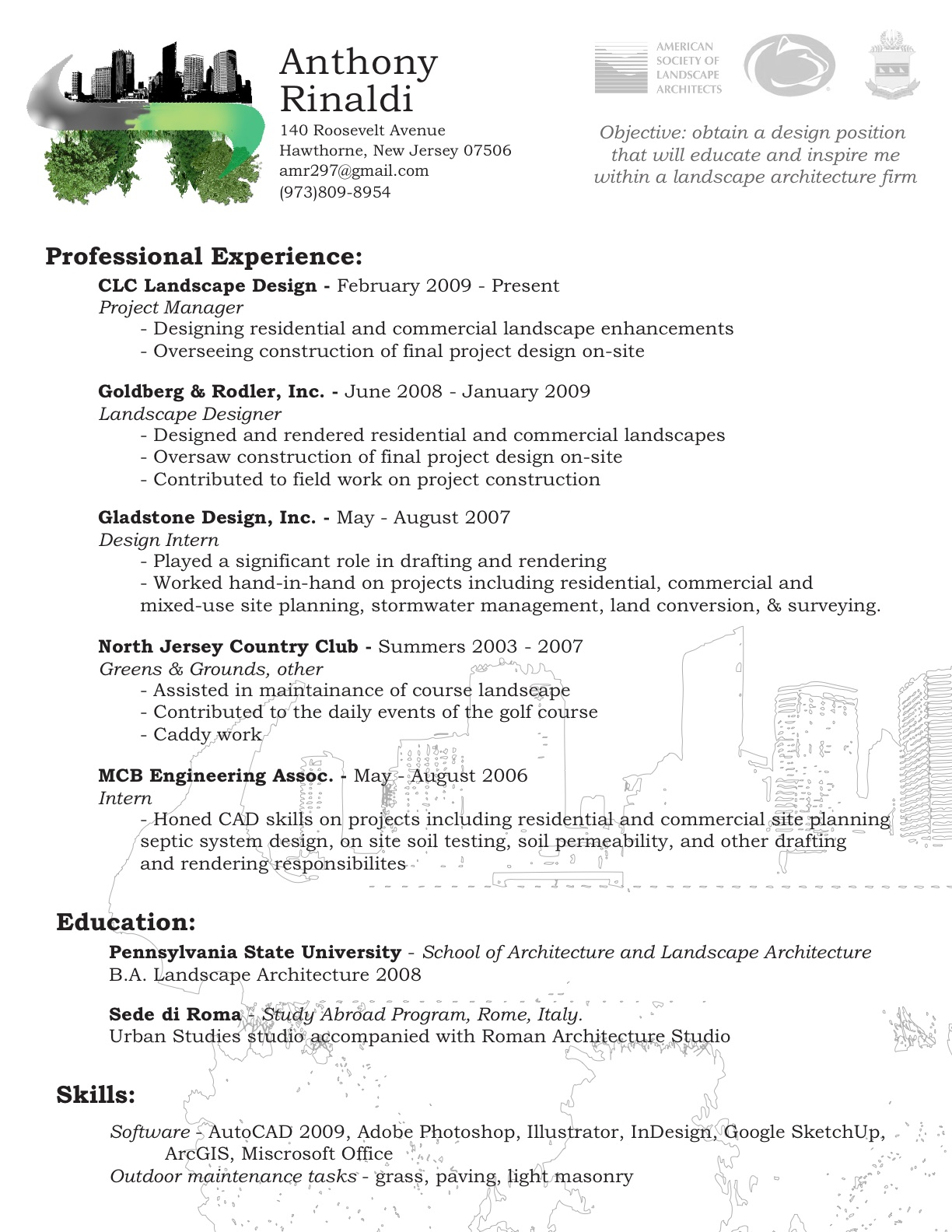 landscaper resume. resume career summary example by alison ...