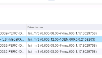 VSAN + DELL PERC: Important Driver and Firmware Updates