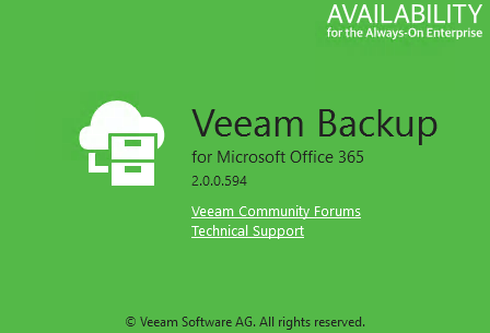 Quick Post - Veeam Backup for Office 365 v2 Important Patch