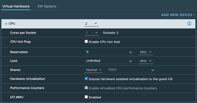 KVM on VMware