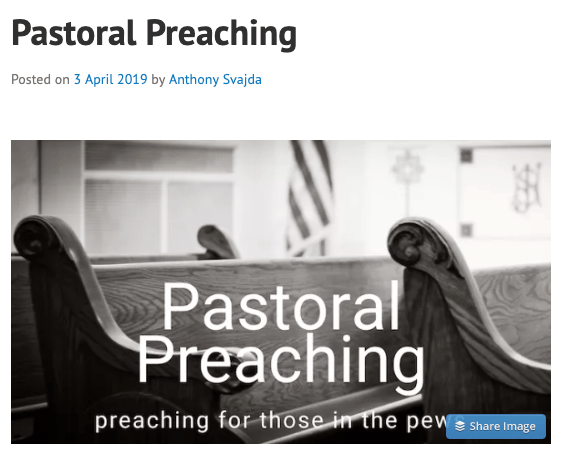 New Post In CaffeinatedTheology – Pastoral Preaching