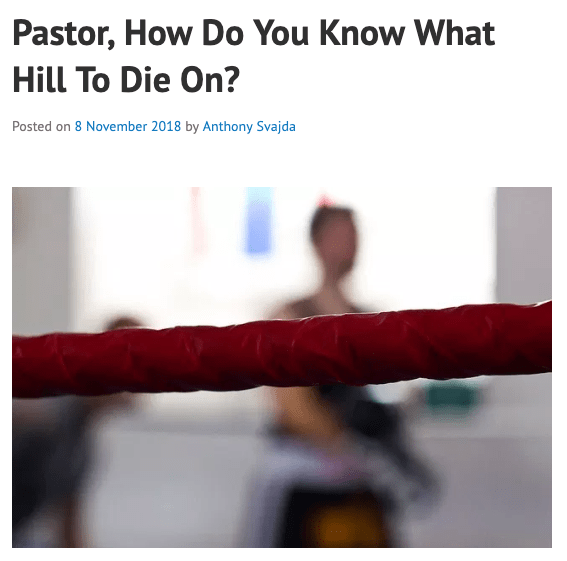 New Post on CaffeinatedTheology – Knowing What Hill To Die On.