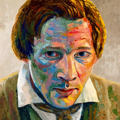 Joseph Smith Rough Stone Colorful Portrait by Anthony Sweat
