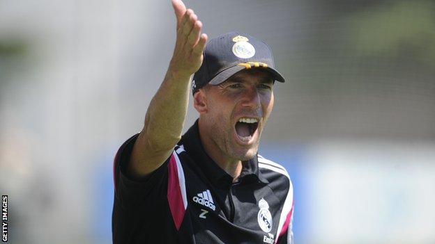Image result for zinedine zidane coach castilla