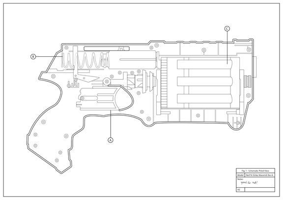 Nerf Gun Drawing Step By Step