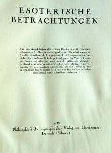 Sogenannter Hochschulvermerk nach § 8 der Statuten der »Weihnachtstagung« in einer Publikation des Jahres 1933