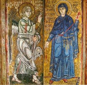 Verkündigung. Kathedrale der hl. Sophia in Kiew.