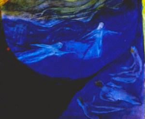 Rudolf Steiner, Ausschnitt aus der Bildskizze »Ostern«