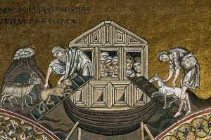Noah, Mosaik in Monreale