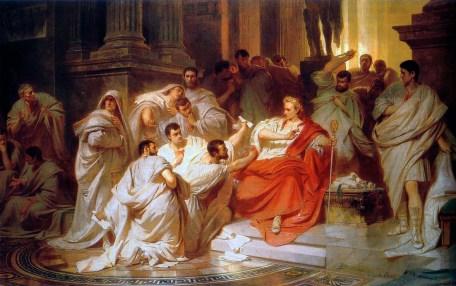 Caesars Tod von Carl Theodor von Piloty (1865). Gemeinfrei. Wikipedia