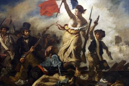 Delacroix, Die Freiheit führt das Volk, 1830.