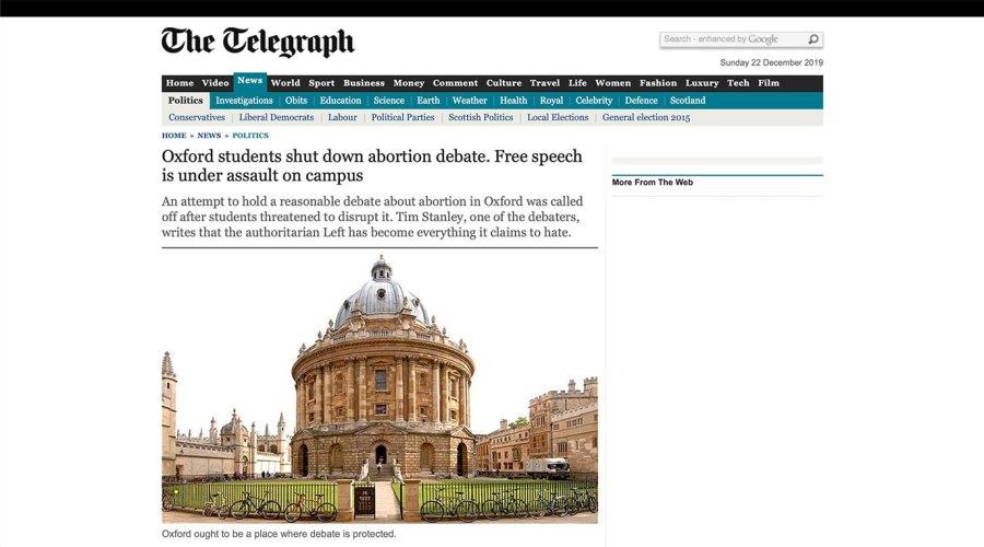 Telegraph Webseite