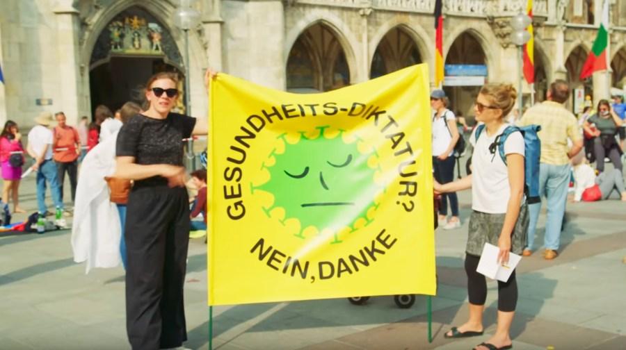 Corona-Demo, München, 9.5.2020. Verschwörungstheorien