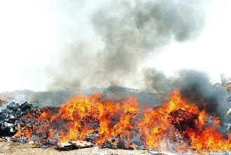 Burn pit in Balad