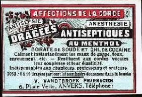 Coca antiseptiques