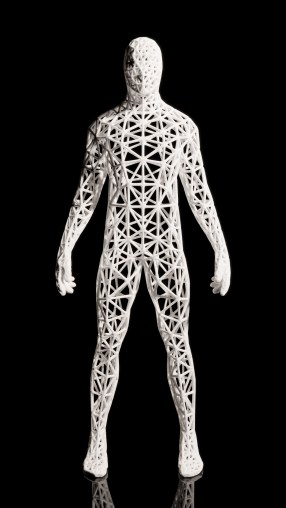 Wireframe Man rendering- Available on shapeways.