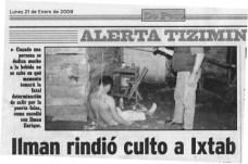 """De Peso, """"Cat´astrofes en Tizim´ın,"""""""