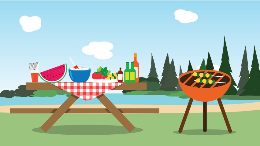 image of picnic table and grill