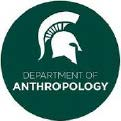 green circular msu anthro logo with spartan helmet